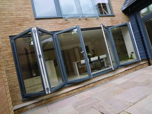 dual colour bi-fold doors surrey