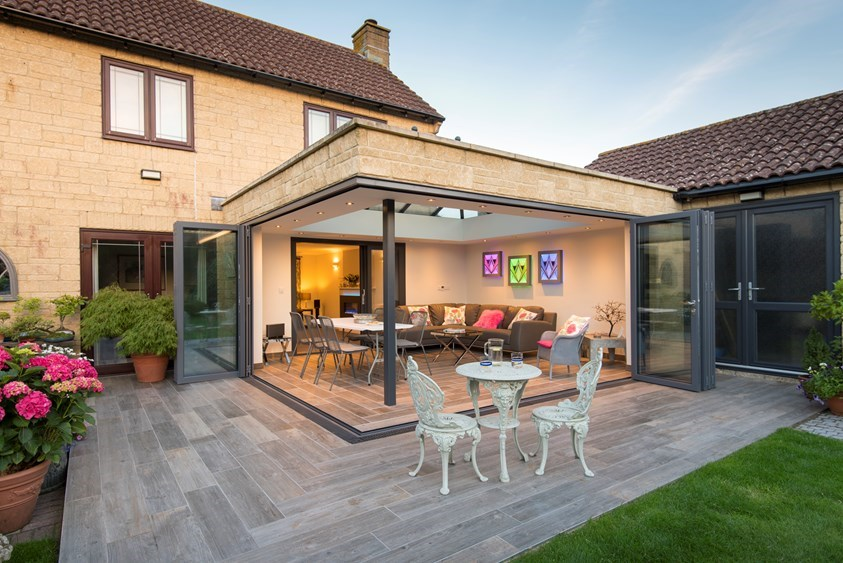 origin Aluminium bi-folding doors epsom